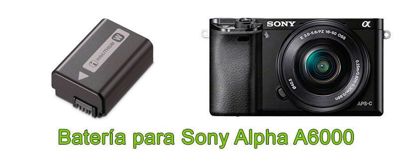 Batería para Sony Alpha A6000