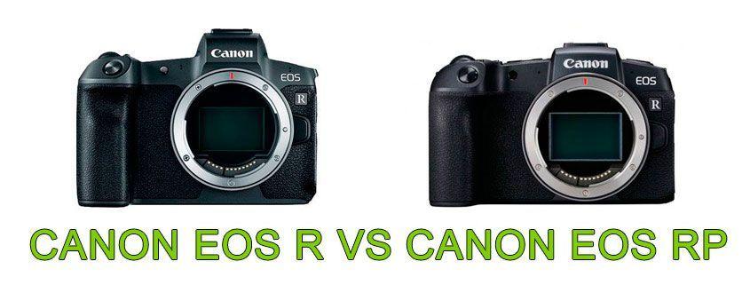 Comparativa Canon EOS R Canon EOS RP