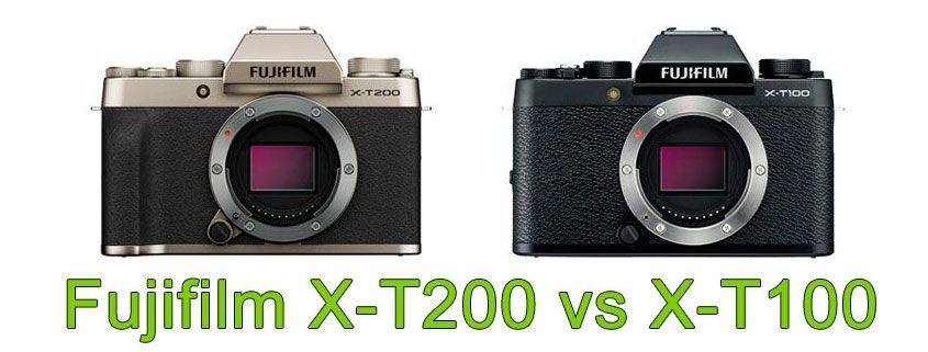 Fujifilm X-T200 vs X-T100