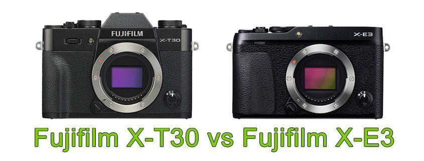 Comparativa Fujifilm X-T30 vs X-E3