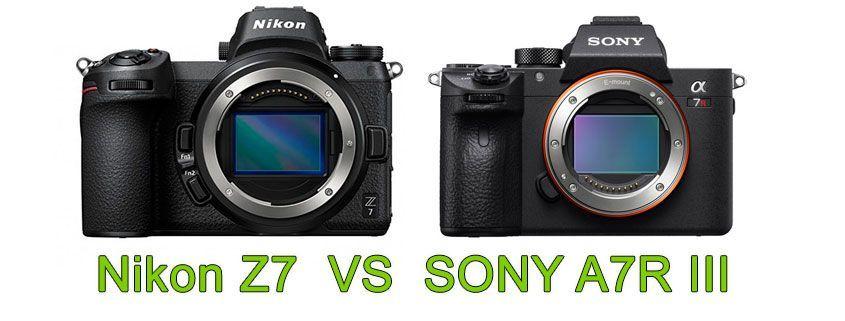 Comparativa Nikon Z7 vs Sony A7R III