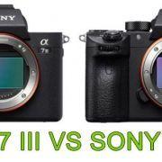 COMPARATIVA SONY A7 III VS SONY A7R III