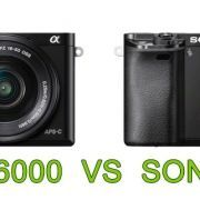 Comparativa Sony A6000 Sony A6300