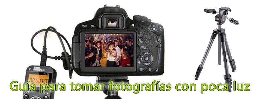 Guía para tomar fotografía con poca luz