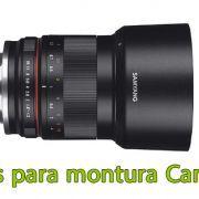 Objetivos para montura Canon EF-M