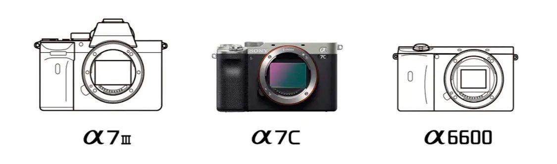 Sony A7C comparativa tamaños