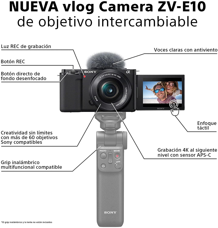 Características Cámara ZV-E10