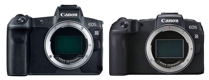 Comparativa Canon EOS R Canon EOS RP Frontal