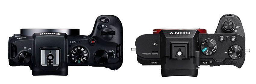 Comparativa superior Canon EOS RP vs Sony A7 II