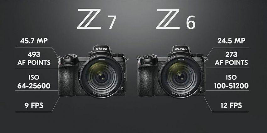 Comparativa Nikon Z6 y Nikon Z7