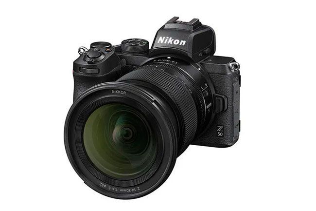 Nikon z50 con objetivo