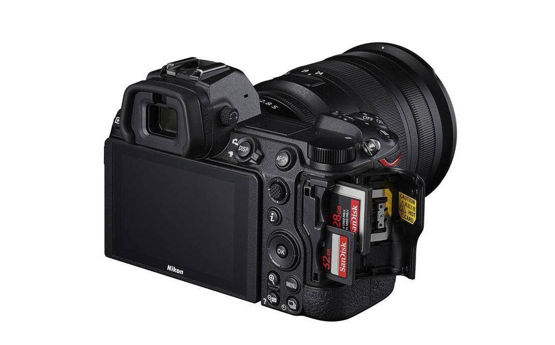 Nikon Z7 II Ranuras tarjetas