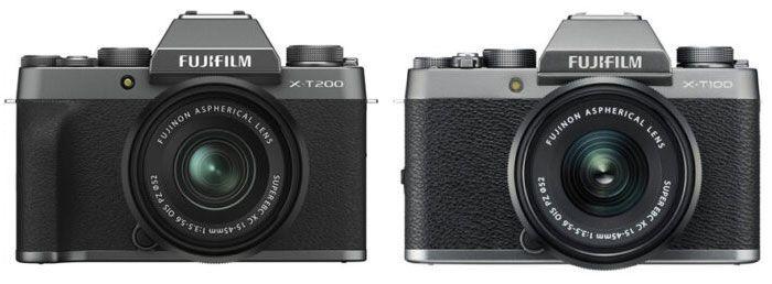 FUJIFILM X-T200 VS X-T100 Frontal